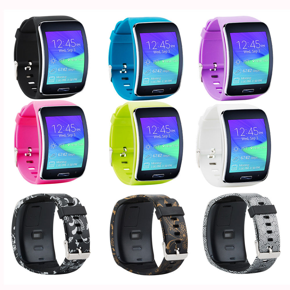 Gear S R750 Band Accessory Replacement Wristband Bracelet Watch Strap Band For Samsung Gear S Smart Watch SM-R750 Multi Colors