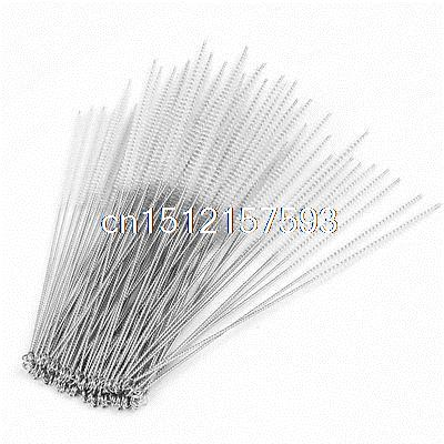 100pcs Laboratory Test Tube Bottle Cup Cleaning Tool Nylon 5mm Clear Brush andralyn 100pcs nylon clevis 1 2xl21mm