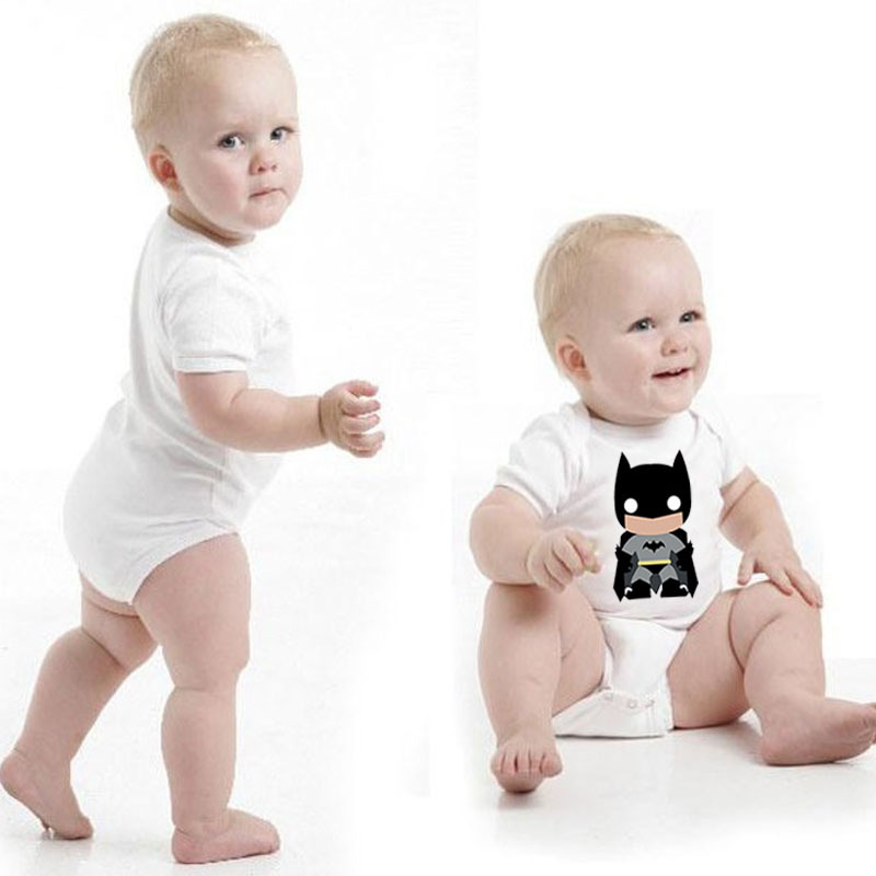 Summer Baby Infant Triangle Crawl Clothing Harri Potter Batman Short Sleeves Cartoon Bodysuits Rompers Tshirts Baby Clothes Set