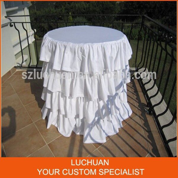 Fancy Product Tiered White 120 Round Tablecloth In Tablecloths From Home Garden On Aliexpress Alibaba Group