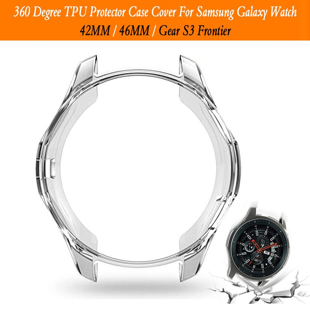 360 Degree TPU Protector Case Cover Shell For Samsung Galaxy Watch 42MM 46MM Gear S3 Frontier Protective Shell in Smart Accessories from Consumer Electronics