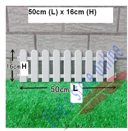 50cm x 16cm plastic fences white railing fences european country style insert ground for garden courtyard decor easily assembled