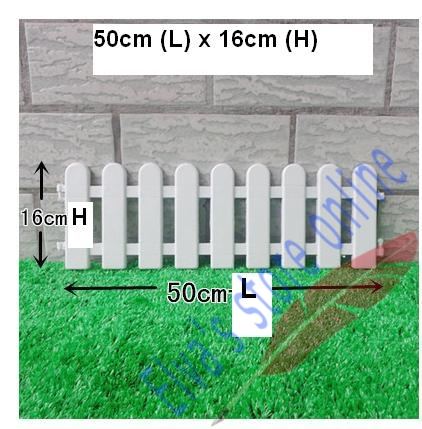 50cm x 16cm plastic fences white railing fences european country style insert ground for garden courtyard