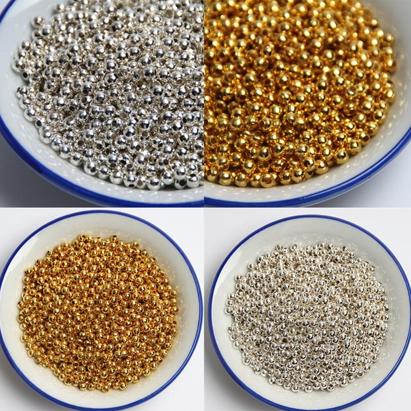 Серебро/золото мм 3 4 5 6 8 10 12 14 мм ювелирные изделия Акриловые Искусственный жемчуг бусины для изготовления ювелирных изделий DIY ожерелье браслет