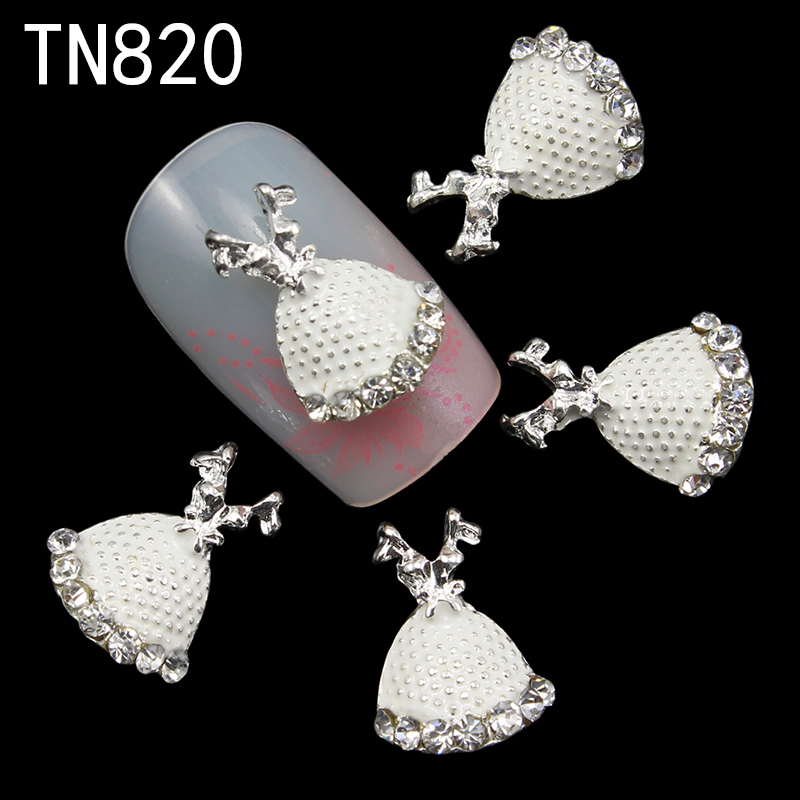 10pc silver Alloy Glitter 3d Nail Art Rose Decorations with Rhinestones,Alloy Nail Charms,Jewelry for Nails Salon Supplies TN820 nail art decorations glitter nails 3d accessories rhinestones supplies jewelry decorazioni unghie diy acrylic tools ongle charms
