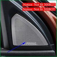For Peugeot 3008 / 5008 2017 2018 Interior Front A pillar Rear Door Speaker Loudspeaker Horn Cover Sticker Trim Car Accessories