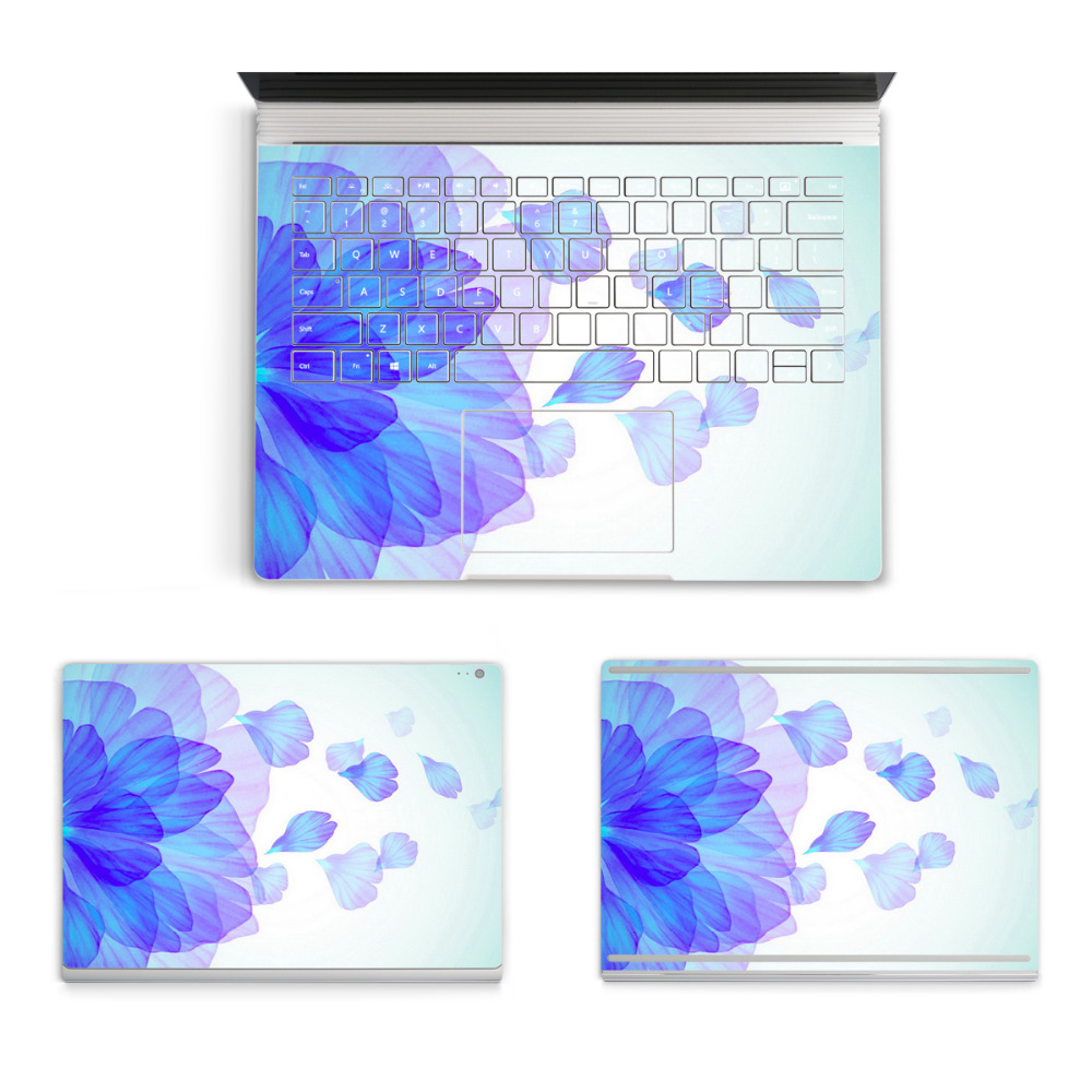 2017 Laptop Sticker For Micro Surface Book Top Bottom Vinyl Decal+US Keyboard Sticker Cartoon Night Scene Skin Logo Cut Out colorful laptop sticker decal skins for macbook 11 13 15 17 inch sticker for mac book rainbow logo free shipping new arrival