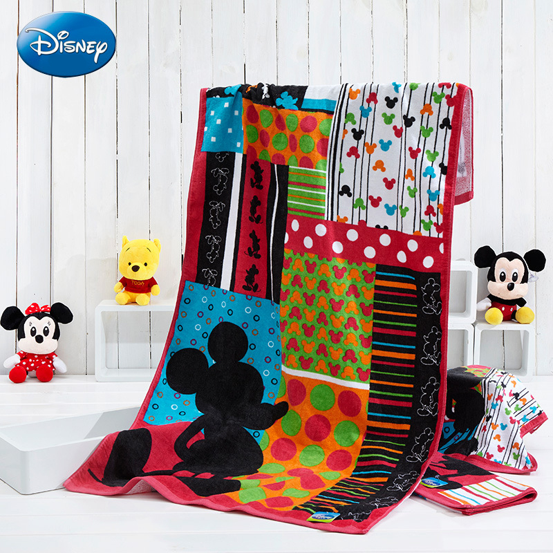 Disney Cartoon Animation Bath Towels Children Face Towels Authorized Products Disney Mickey Series Mickey Colorful Bath Towels цена 2017