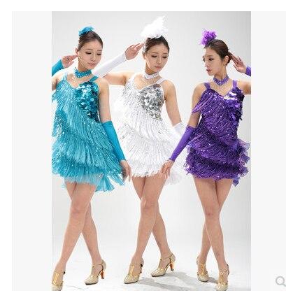 Child Latin Dance Dresses For Tassel style Cha Cha/Rumba/Samba/Ballroom/Tango Dance Clothing Kids Dancewear 2581#