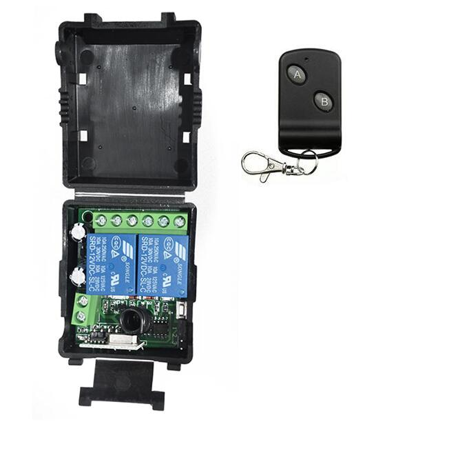 DC 12V 12 V 2CH RF Wireless Remote Control Lighting Switch System Transmitter Receiver 2 CH Relay Smart Home Garage Door/lamp