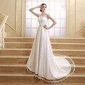 Laço do marfim da sereia Vestidos De Noiva 2016 moda doce artesanal cristais Vestidos De Noiva Vestidos De casamento Vestidos De Noiva SQS06