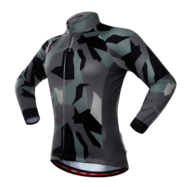 WOSAWE Men Women Cycling Jerseys Autumn Sports Wear Long Sleeved Shirts Summer Reflective Jacket UV Protection Riding Clothing