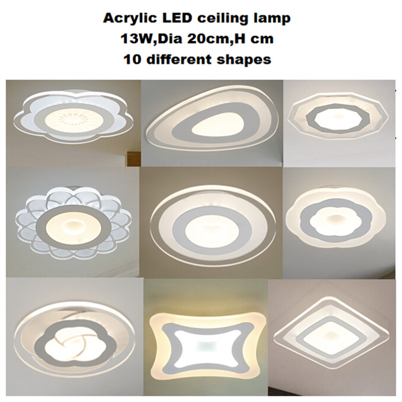 new ultra thin modern led ceiling lights creative acrylic lamp home flush mount ceiling light. Black Bedroom Furniture Sets. Home Design Ideas