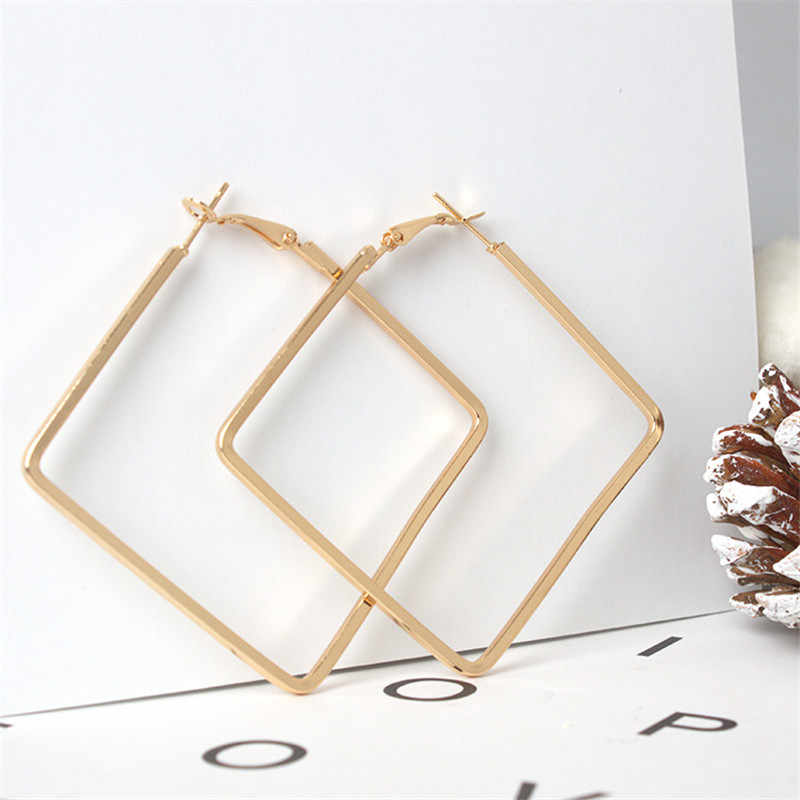 Europe and the United States fashion personality exaggerated square large earrings for women  4ED412
