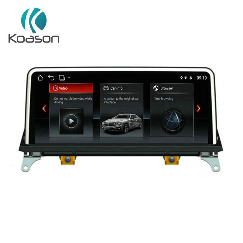 Koason 10.25 HD Écran Android 8.1 audio De Voiture Auto Vidéo Médias Stéréo Lecteur pour BMW X5 X6 E70 E71 2011-2013 CIC GPS Navigation