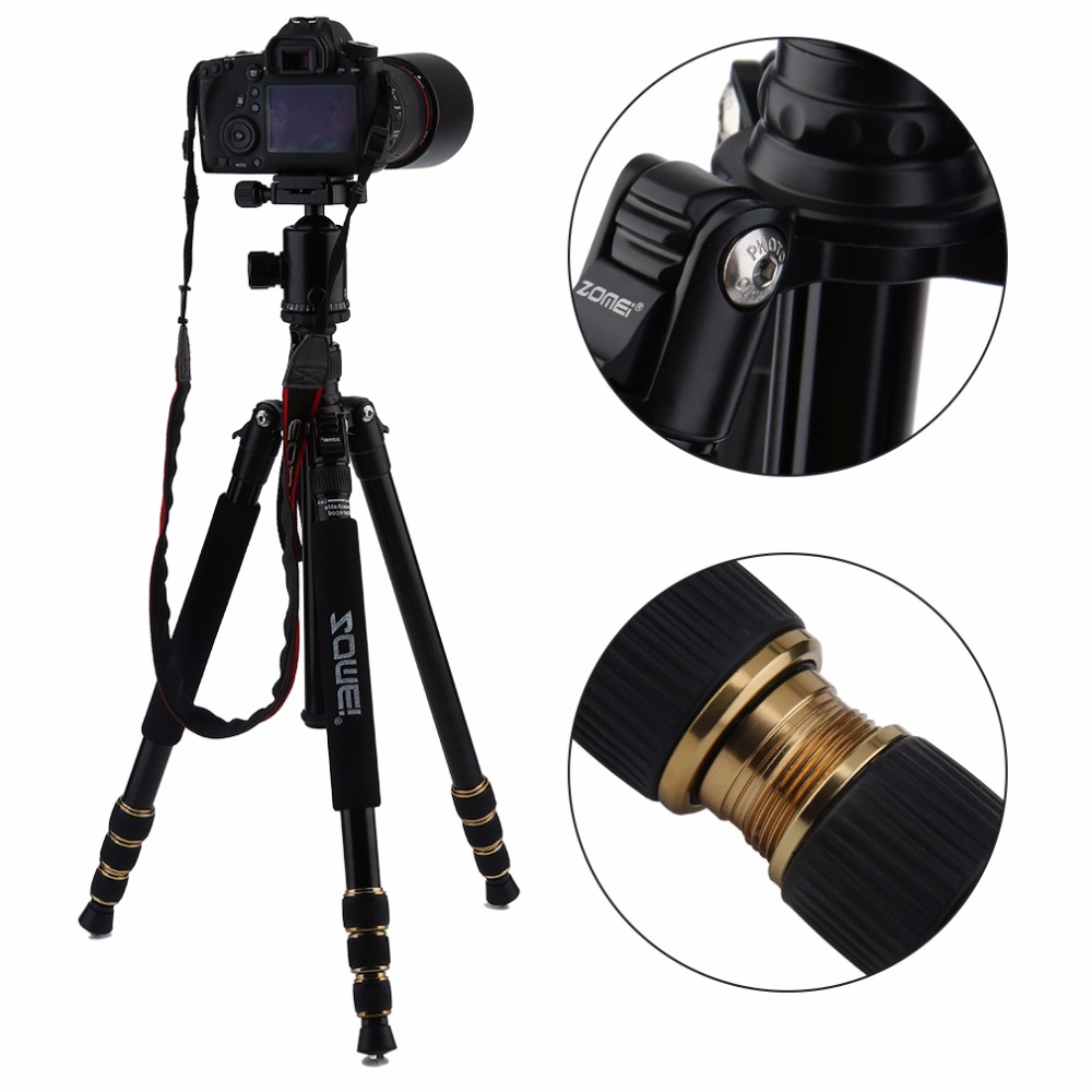 Z668 ZOMEI Professional Portable Camera Tripod Stand Monopod For DSLR Camera Digital Camera With Ball Head zomei z888 portable stable magnesium alloy digital camera tripod monopod ball head for digital slr dslr camera