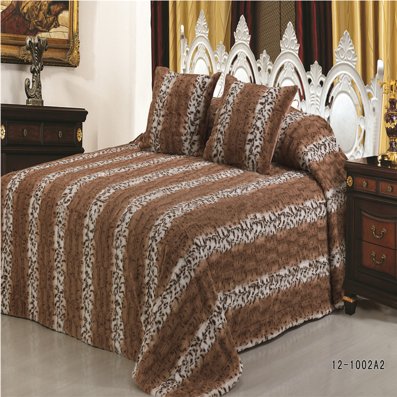 CLORIS Christmas Gift Warm Blanket Fleece Bedspread on the Bed Luxurious Solid Color Faux Fur Blanket