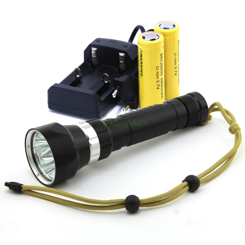 2016 New Waterproof Underwater Led Light 100m Diving 4 XM-L2 Led Diving Flashlight Torch with 2*26650 Battery & Charger цена 2017