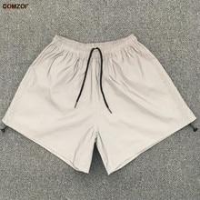 купить Hot sale women night jogging reflective shorts drawstring harajuku hip hop streetwear womens fashion shorts full reflect light онлайн