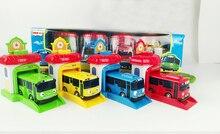 Entrega gratuita 4 unids/set Historietas Lindas Coreanas garaje tayo el pequeño modelo mini tayo bus de plástico de coche de bebé para la Navidad regalo