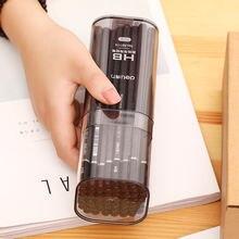 Deli 58114 черный карандаш hb пишущий шестиугольный бутилированный