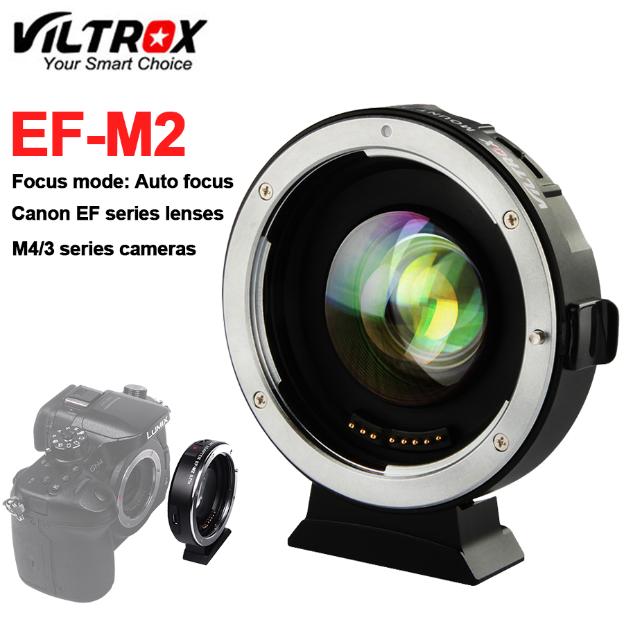 Lens Adapter Turbo Viltrox EF M2 0.71X Reduce Speed Booster AF Auto focus EXIF for Canon EF lens to M43 Camera GH4 GH5 GF6 GF1
