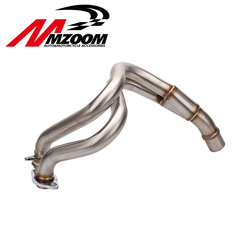 Motorbike Stainless Steel Header Exhaust Mid Pipe for Kawasaki ER-6N ER-6F ER6F ER6N Ninja 650R 2012 2013 2014 2015 Motorcycle 10mm swingarm spools sliders motorcycle for kawasaki er 6n er6n er 6n 2006 2016 2007 2008 2009 2010 2011 2012 2013 2014 2015