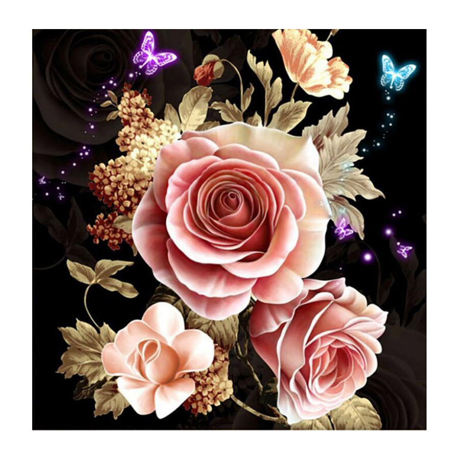 5D Diamond Embroidery Paintings Rhinestone Pasted flower Butterfly diy Diamond painting Cross Stitch Painting By Numbers Full Pi