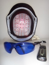 68 medical diodes prevent baldness treatment laser diode helmet with glasses+timer