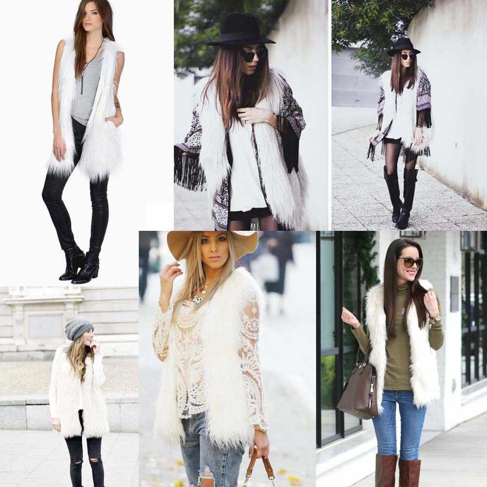 Chaleco de piel de Invierno para mujer, abrigo negro de piel sintética, prendas de vestir, chaleco sin mangas, cárdigan, envío gratis, regalo de Navidad