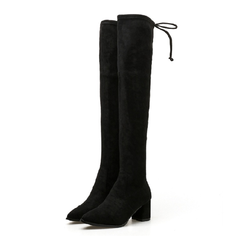2018 autumn and winter new skinny boots wild suede skinny legs high heel over the knee stretch boots black ljj 01102018 autumn and winter new skinny boots wild suede skinny legs high heel over the knee stretch boots black ljj 0110
