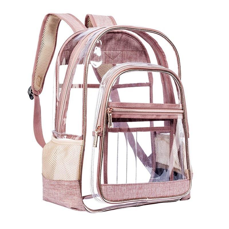 Transparent Backpack For Girls Pvc Clear Jelly Bag Women Sac A Dos Fashionable School Bags For Teenage Girls Mochila FemininaTransparent Backpack For Girls Pvc Clear Jelly Bag Women Sac A Dos Fashionable School Bags For Teenage Girls Mochila Feminina