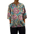 Custom dashiki clothes v-neck men african tops three quarter sleeve print africa clothing