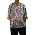 Custom dashiki clothes v-neck men african tops three quarter sleeve print africa clothing