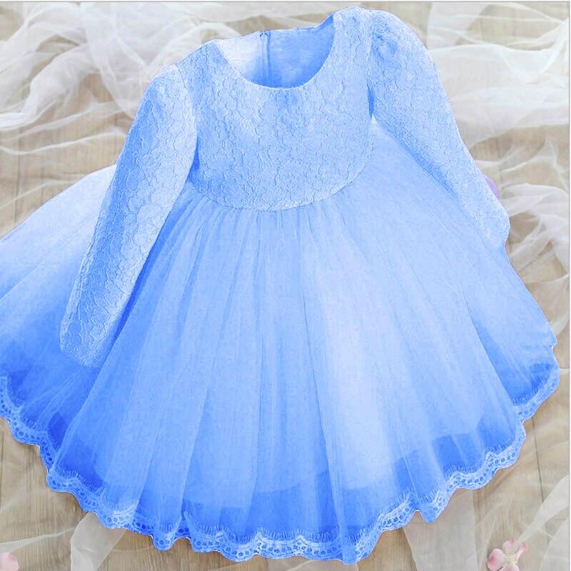 Children birthday party dress pageant dresses for babies girls light blue wedding gown dress kids wedding blue