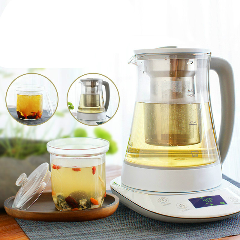 Electric kettle Multifunctional water curing pot automatic thickening glass electric cooking tea stewed curing pot tisanes of the multifunctional automatic thickening glass boiled tea electric cooking pot electric water ket