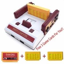 Neue Retro Dual Controller 8Bit TV Videospielkonsole Für FC klassische Spiele Familie TV Video Game Player Mit 500 + Spiele jeux jueg