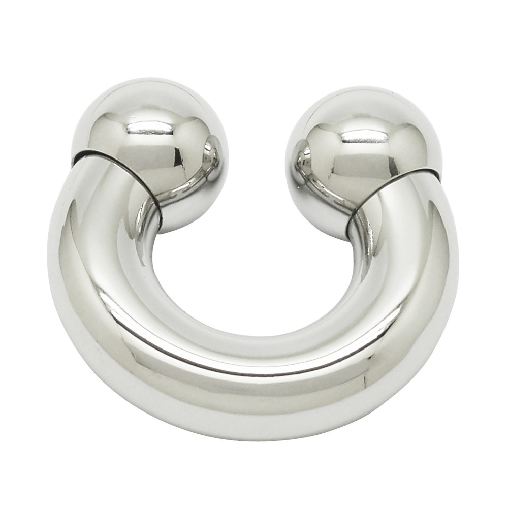 ACECHANNEL 316L Stainless Steel Mens genital Piercing Curved Barbell Body Jewelry