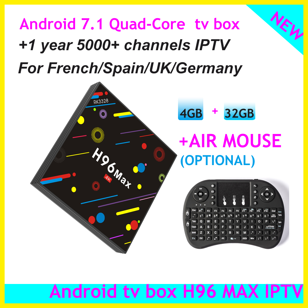 italy French Germany Uk Ex-yu Spain Iptv 5000 Channels Vod With Traditional Methods Tv Receivers Generous The Newest H96 Max Quad Core Android 7.1 Tv Box With 1 Year Iptv