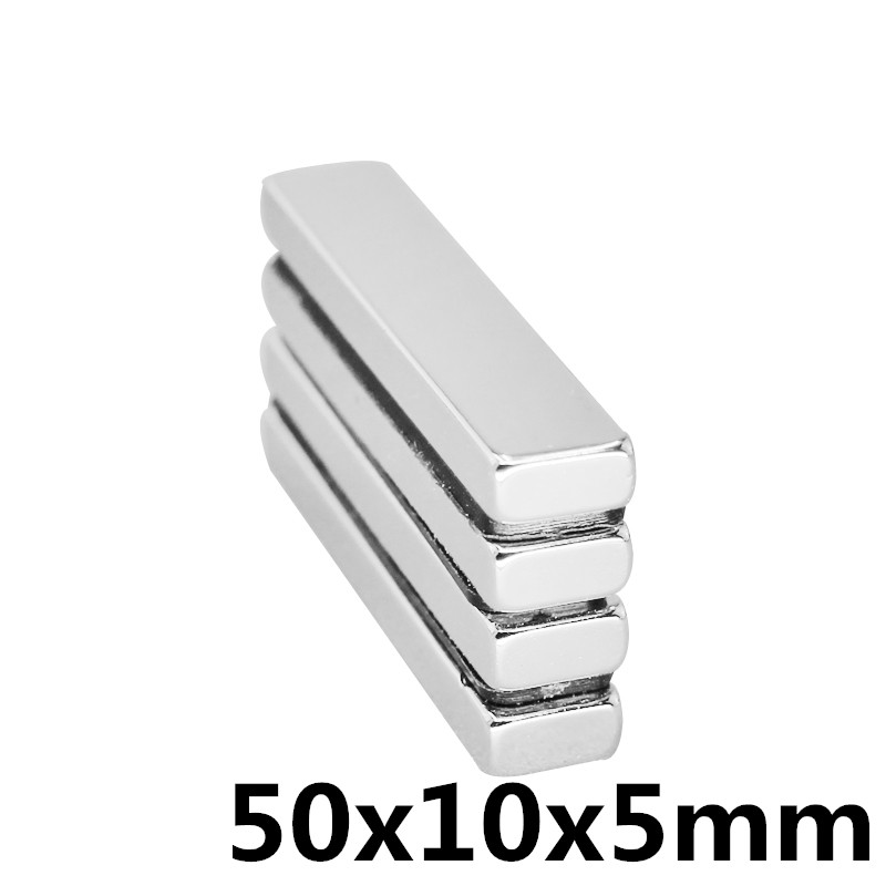 1pcs Grade N35 Neodymium Magnet Super Strong NdFeB Square Magnet Nickel Plated Industrial Rare Earth Magnets 50*10*5mm Mayitr image