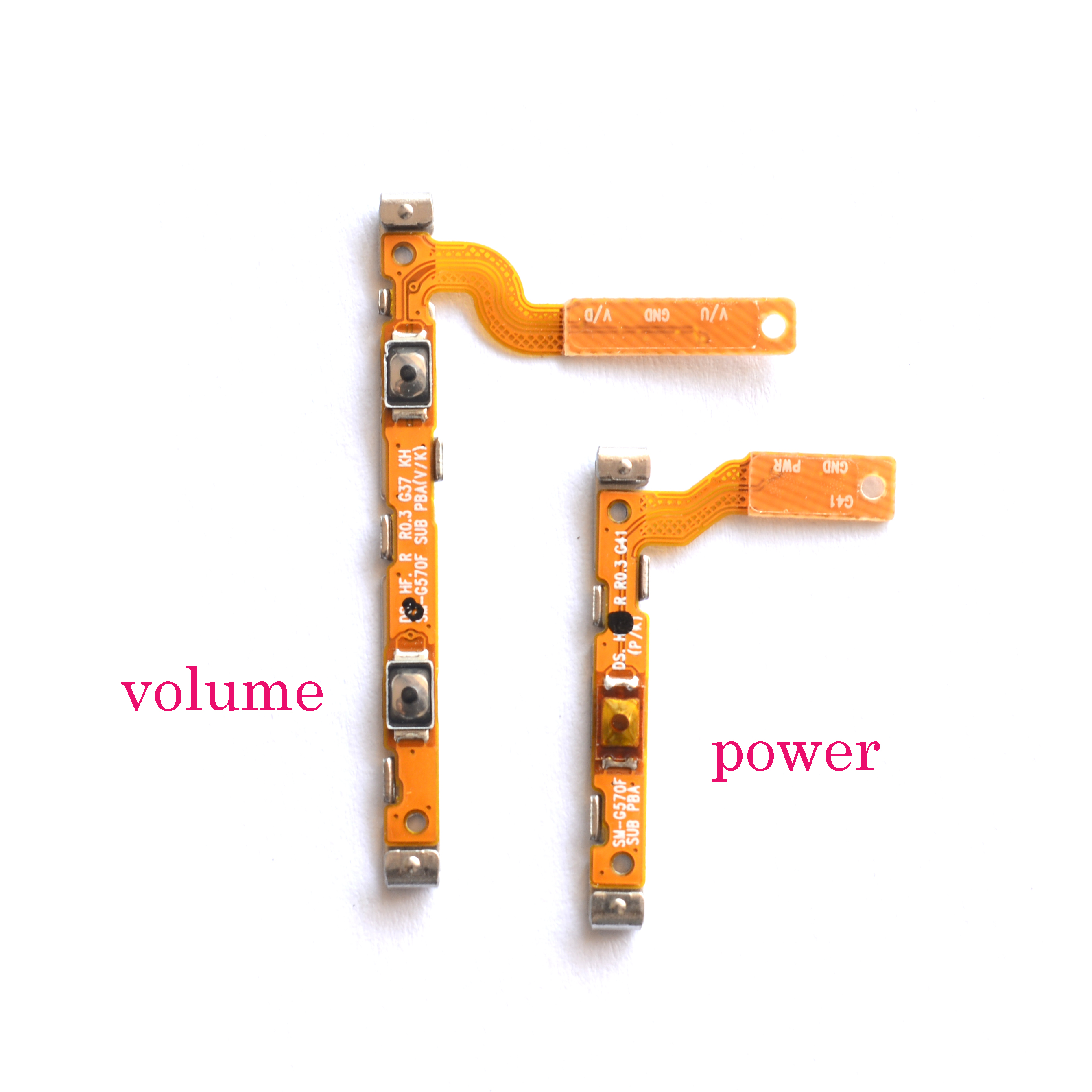US $1 99 |Power on off lock unlock Volume +/ side button strip flex cable  for Samsung Galaxy J5 prime J7 prime G570 G610/on5 on7-in Mobile Phone Flex