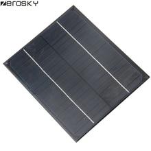 Zerosky 6W 18V 12V 6V Mini Solar Panel Monocrystalline Solar Cell DIY Solar Module Portable 170*200mm Hot
