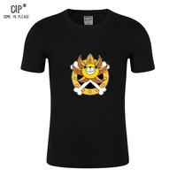 CIP 100% Cotton Japanese Anime Clothing One Piece Luffy's Ship THOUSAND SUNNY Boys Girls Summer T-shirt Short Sleeve Tops Tees