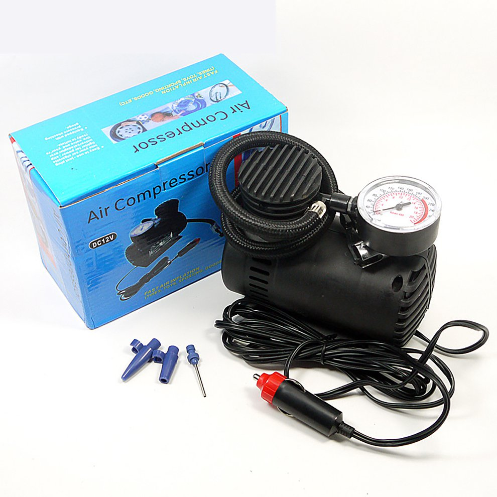 12v Miniature Locomotive Air Pump Vehicle Tire Air Compressor Portable Vehicle Electric Small Air Pump