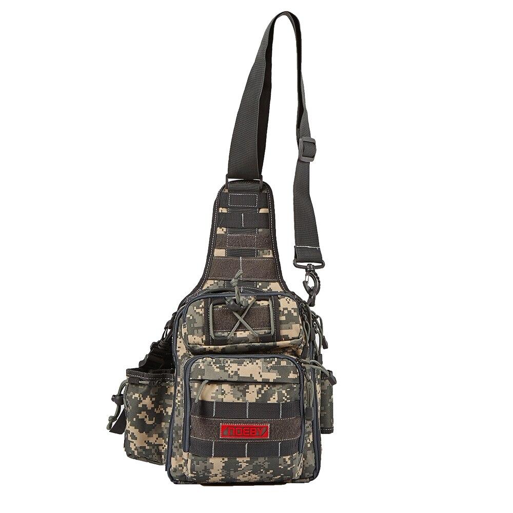 NOEBY Fishing Tackle Bag Multi-functional Outdoor Fishing Bagpack 28*21*9.5cm Waterproof Chest Bag Bolsa Pesca Carp Bag