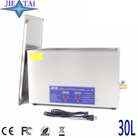 JIETAI Digital 30L 600W Ultrasonic Cleaner Heated Timer Stainless Bath Baskets Industrial Parts Medical Lab Instruments