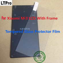 LTPro Best Working LCD Display Touch Screen Digitizer Assembly+ Frame For Xiaomi 3 M3 Mi3 WCDMA+T empered Glass Protector Film