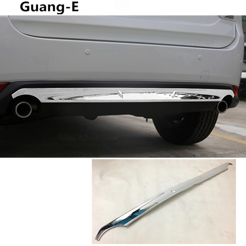car body cover protection Bumper ABS Chrome trim rear back tail bottom hoods pedal moulding 1pcs For Mazda CX-5 2017 2018 hot car abs chrome carbon fiber rear door wing tail spoiler frame plate trim for honda civic 10th sedan 2016 2017 2018 1pcs