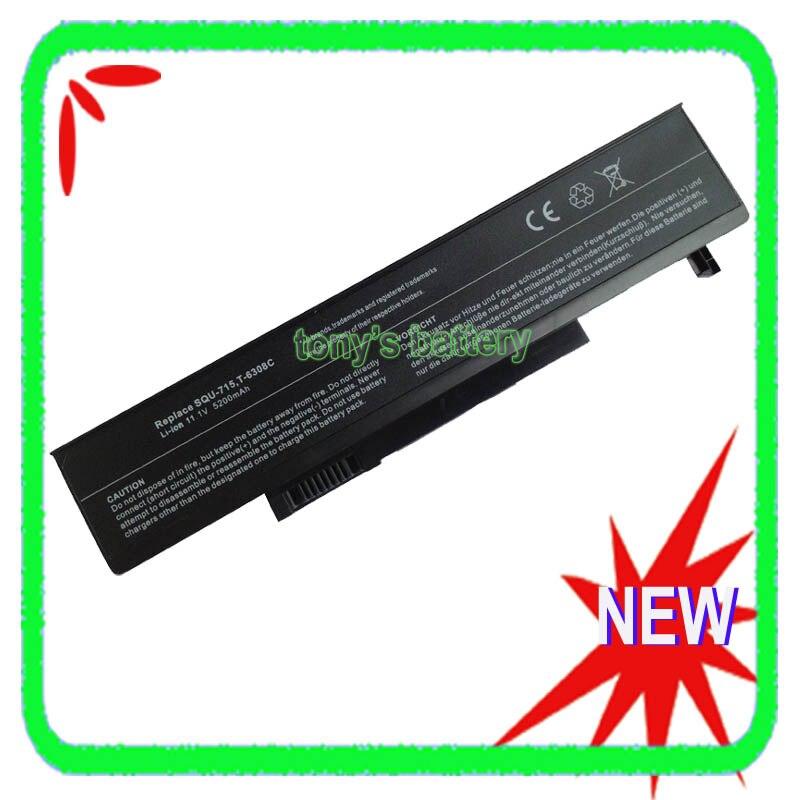 6 cellules SQU-715 Batterie Pour Gateway T-6308c T-1600 T-6311 T-6815 T-1616 M-6829b M6700 W35044LB W35052LB SQU-719