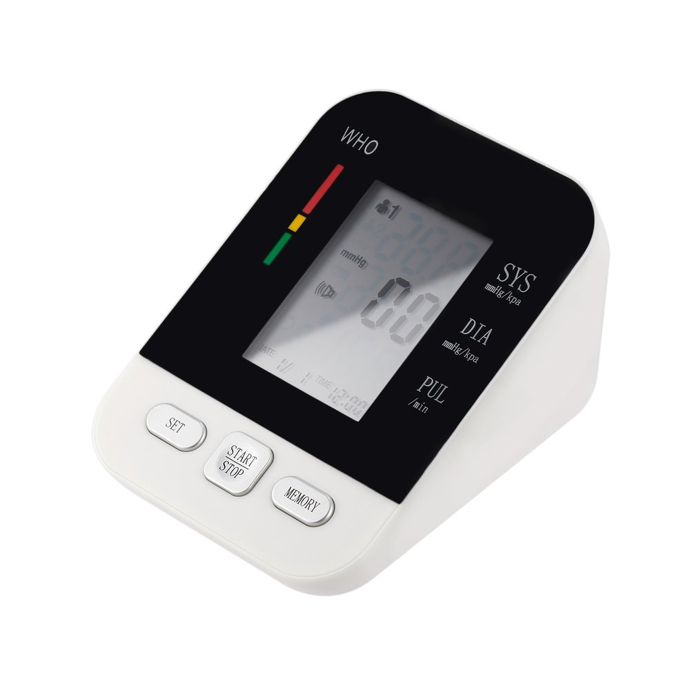 LCD Digital Upper Arm Electronic Blood Pressure Monitor USB Rechargeable Sphygmomanometer Heart Rate Monitor Meter new